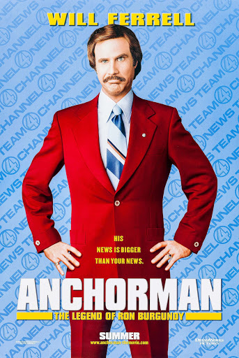 Top 10 Funniest Movies Of All Time-Anchorman: The Legend of Ron Burgundy (2004)