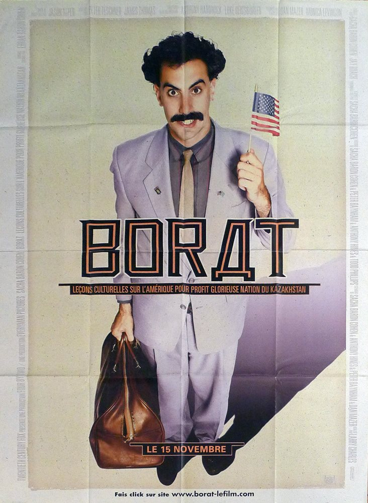 Top 10 Funniest Movies Of All Time-Borat (2006)