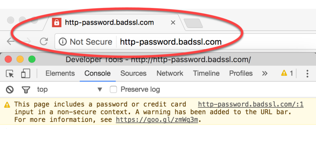 Unsecure Web site